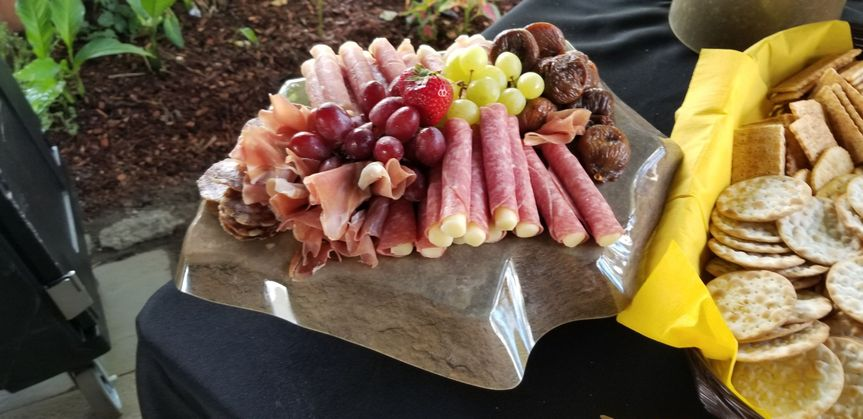 Cold cuts and fruits