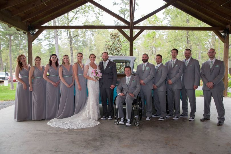 The Springs wedding party