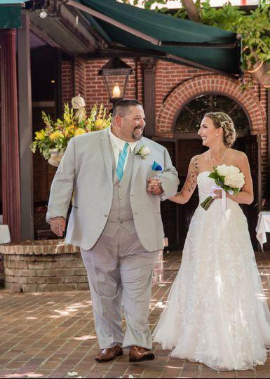 Dad walking Bride down aisle