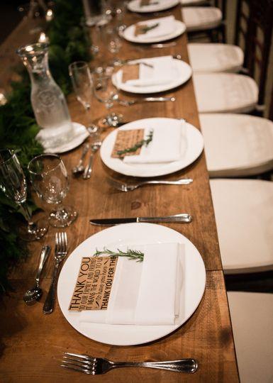 Elegant Table Setting, Rustic