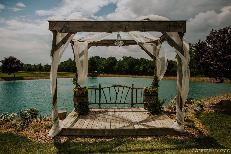 Pergola by the pond