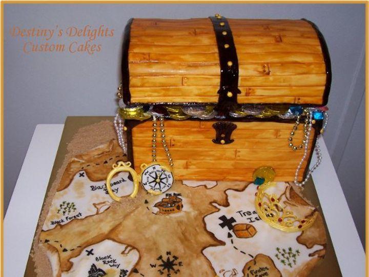 Tmx 1256510435293 TreasureChest Wendell wedding cake