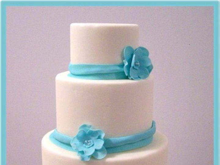 Tmx 1264383649413 SimpleBlueWedding Wendell wedding cake