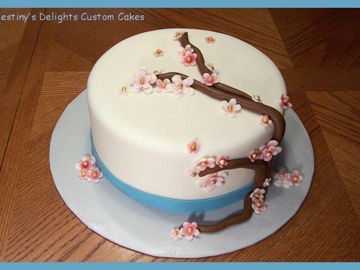 Tmx 1340042220410 CherryBlossomCake Wendell wedding cake