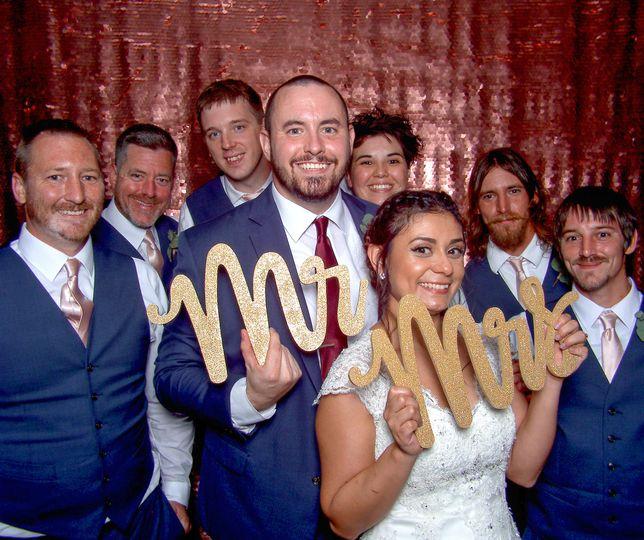 Newly Married W/ Groomsmen