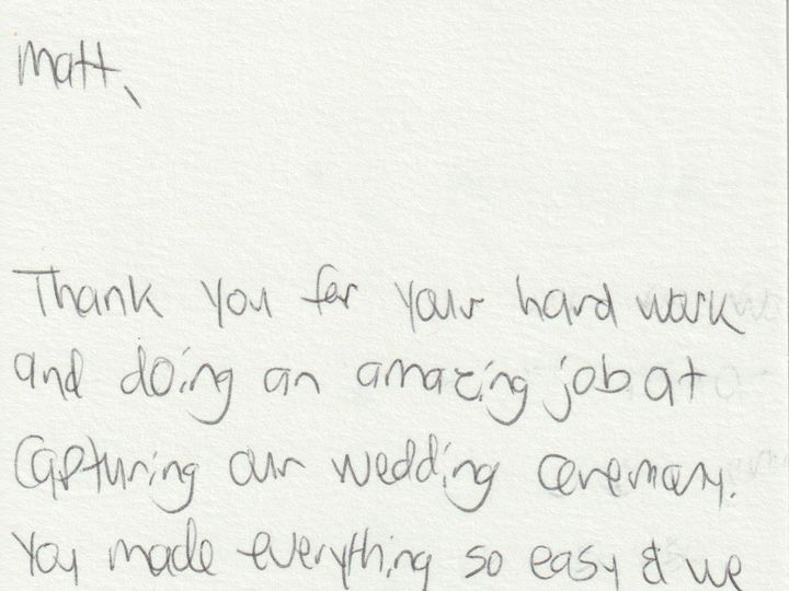 Tmx Thank You Note Dg 51 1883703 160749291221610 East Meadow, NY wedding videography