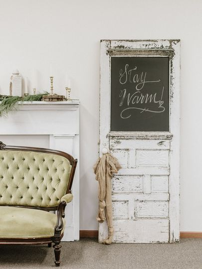 A rustic touch