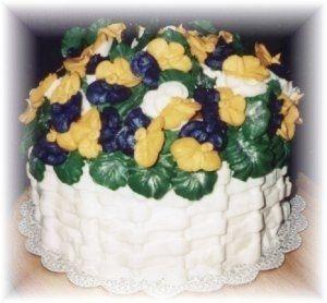 Tmx 1227325189531 Plum Yellow Pansies Clinton, IA wedding cake