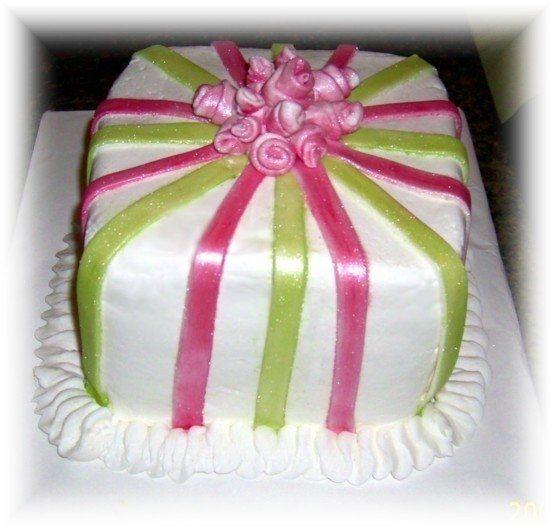 Tmx 1227325514610 PinkNgreenstipes5 Clinton, IA wedding cake