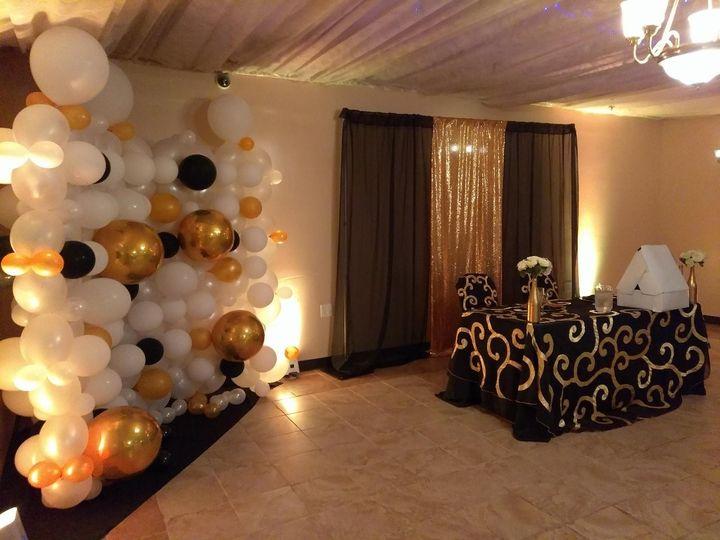 Balloon Wall and table set
