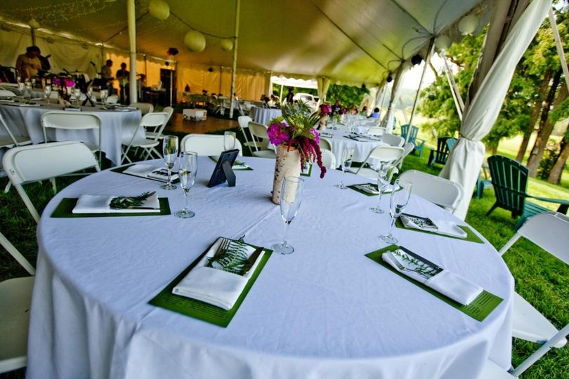 Wedding reception in one of Celebration rentals tent. Celebration Rentals is headquartered in...