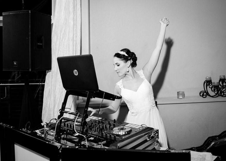 The bride DJ