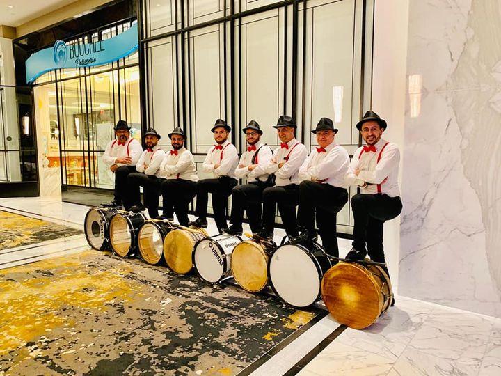 Modern drum line