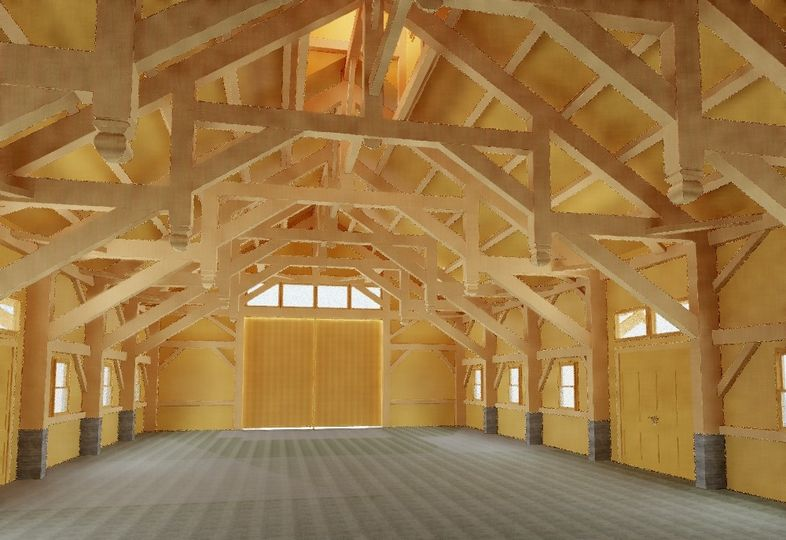 Howe Barn Interior Frame