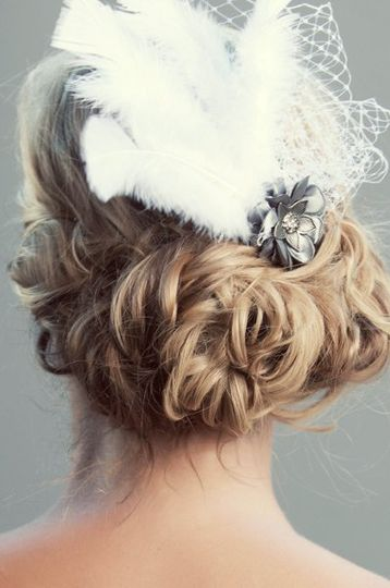 outdoor bridal hair