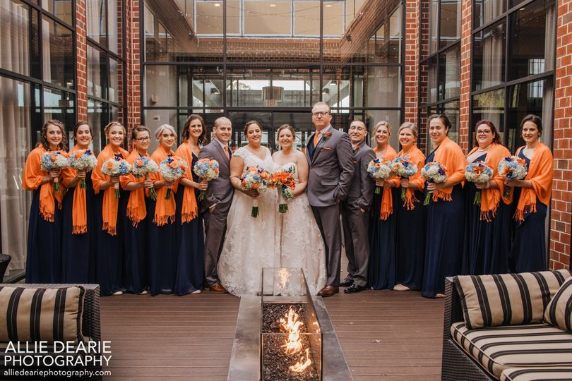 Wedding Party in the Courtyard
