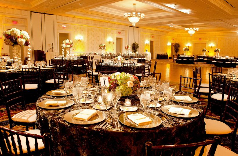Sample reception hall setup