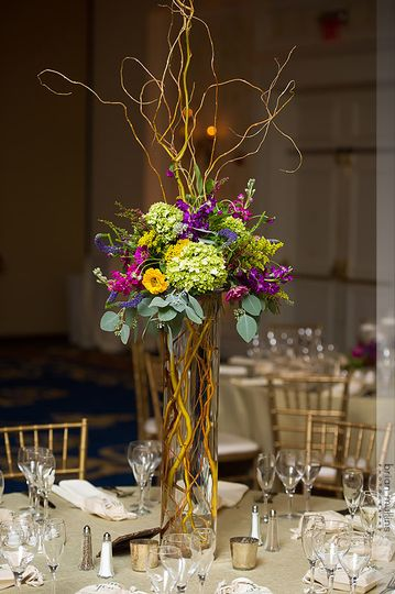 Sample tall centerpiece