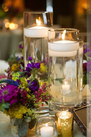 Candle lit centerpiece
