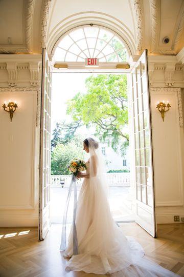 Bride by the doors