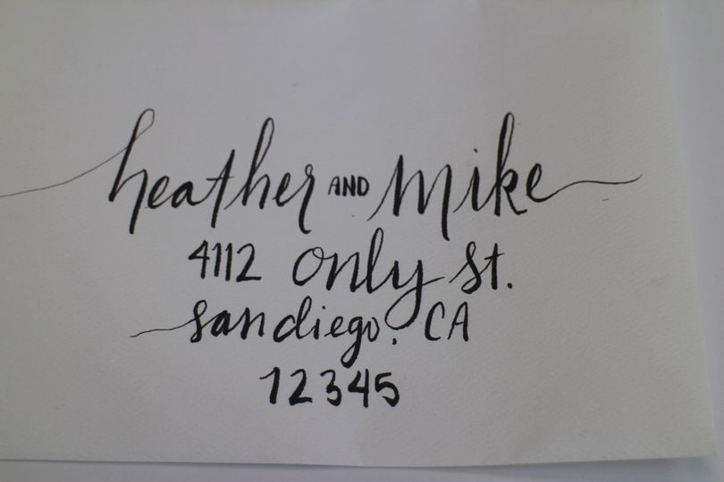 Hand addressed