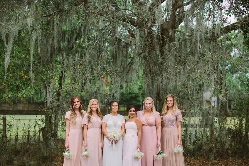 Bridesmaids at Florida Wedding
