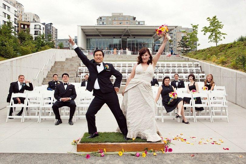 Ceremony in Gates Amphitheater at Olympic Sculpture Park photo: Jenny Jimenez