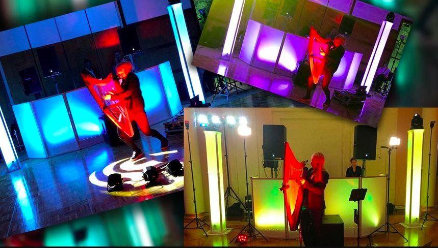 Spotlight show for reception