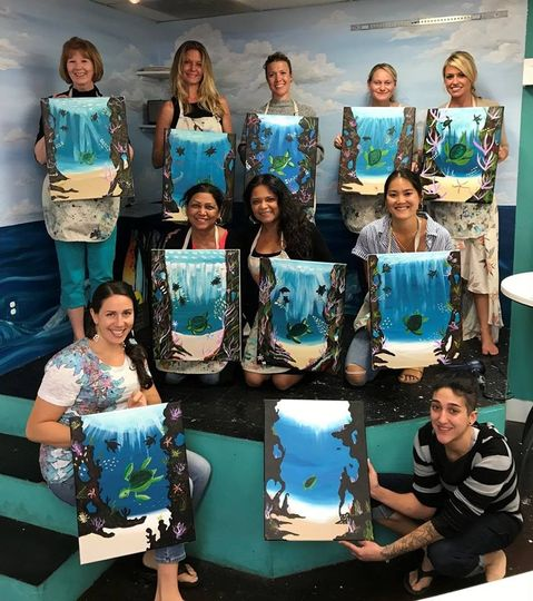 Island Art Party - all smiles