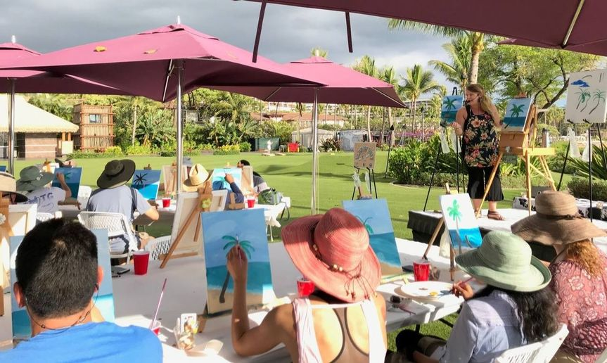 Island Art Party- outdoor event