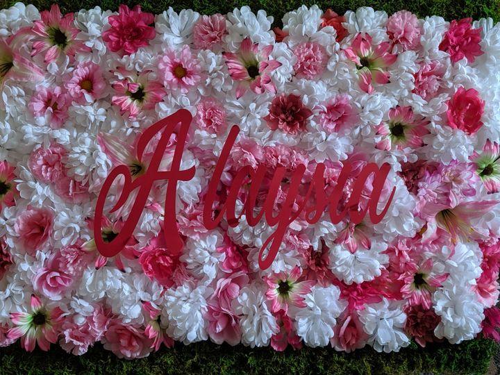 Custom Flower Backdrop