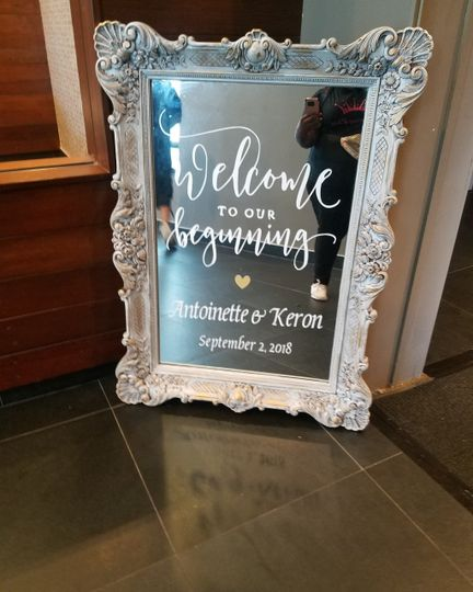 Custom Welcome Mirror