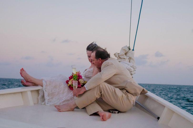 Sunset Sailboat Wedding