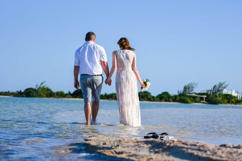 Small Sandbar Wedding