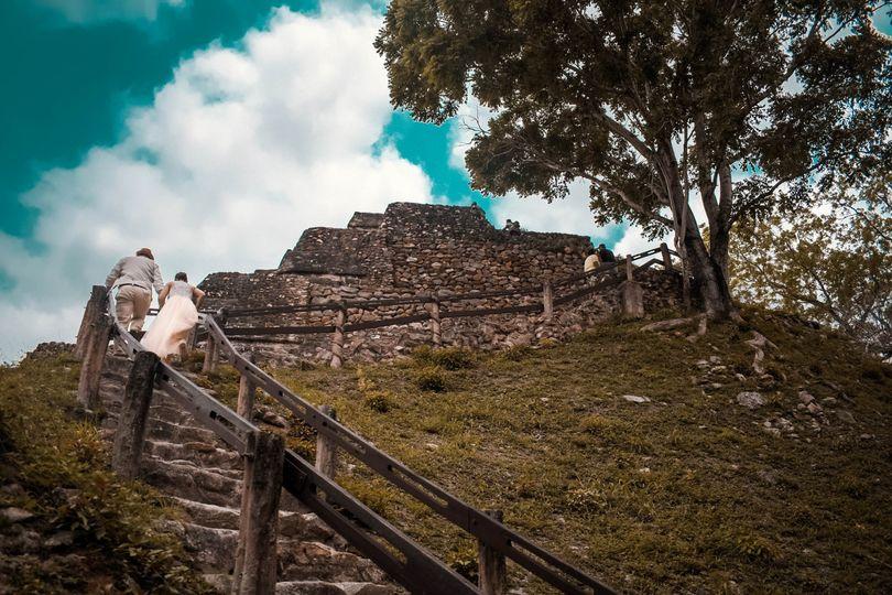 Ancient Mayan Ruin Wedding