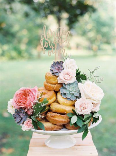 Donut cake | Image courtesy of Cassidy Carson Photography