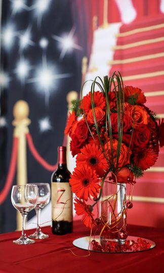 Romantic red carpet gala