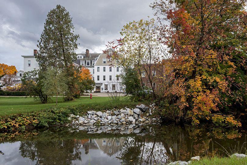 inn from across the neshobe river