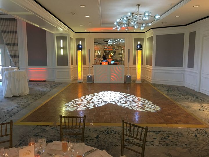 Elegant wedding light projection