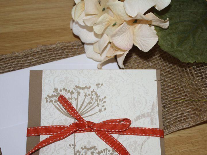 Tmx 1420311889819 Orange And Ivory Floral Wedding Invitation Leesport wedding invitation