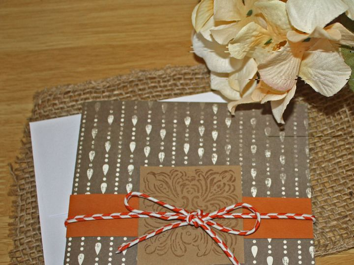 Tmx 1420312019270 Orange And Brown White Spotted Wedding Invitation Leesport wedding invitation