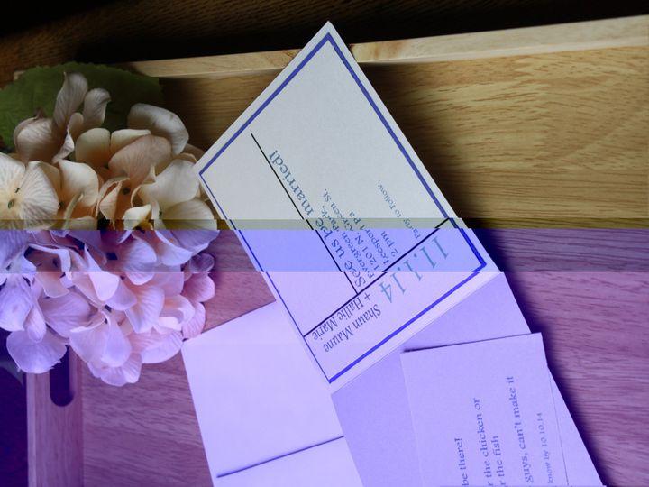 Tmx 1420329464250 Blue And Teal Modern Wedding Invitation Leesport wedding invitation
