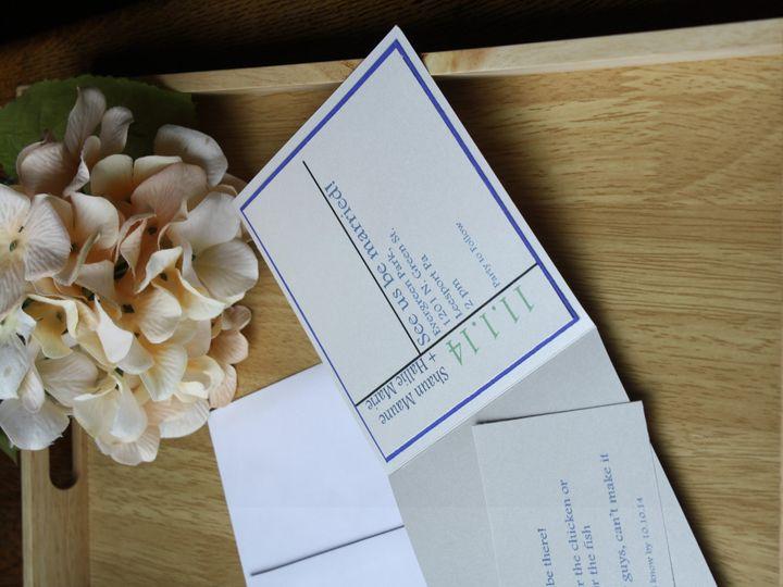 Tmx 1420329537384 Blue And Teal Modern Wedding Invitation Leesport wedding invitation