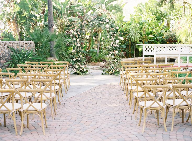 Vineyard ceremony chairs