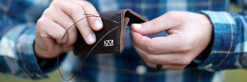 hand stitchedslimwallet