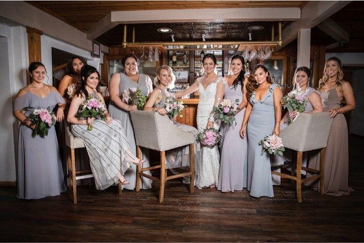 Bridal party awaiting the nuptials