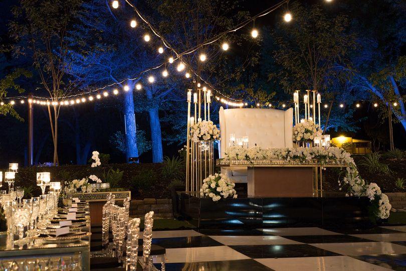 Romantic bistro lighting