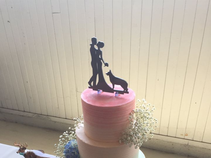 Tmx Three Tier Cake With Ombre Design And 6 Grooms Cake 51 1000903 Portland, OR wedding cake