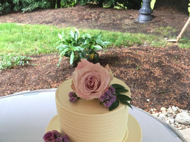 Tmx Two Tier Cake With Horizontal Ridge Texture And Fresh Flowers 51 1000903 Portland, OR wedding cake
