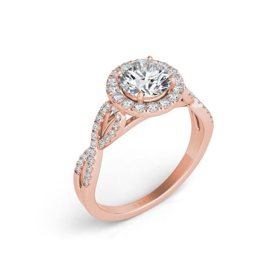 S. Kashi & Sons engagement ring in rose gold